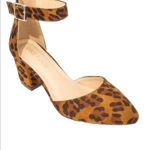 ⭐️ Pointy Toe Chunky Heel Women's D'Orsay Pump